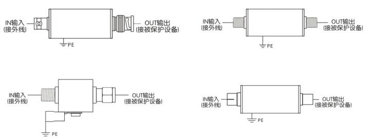同轴输入电路图